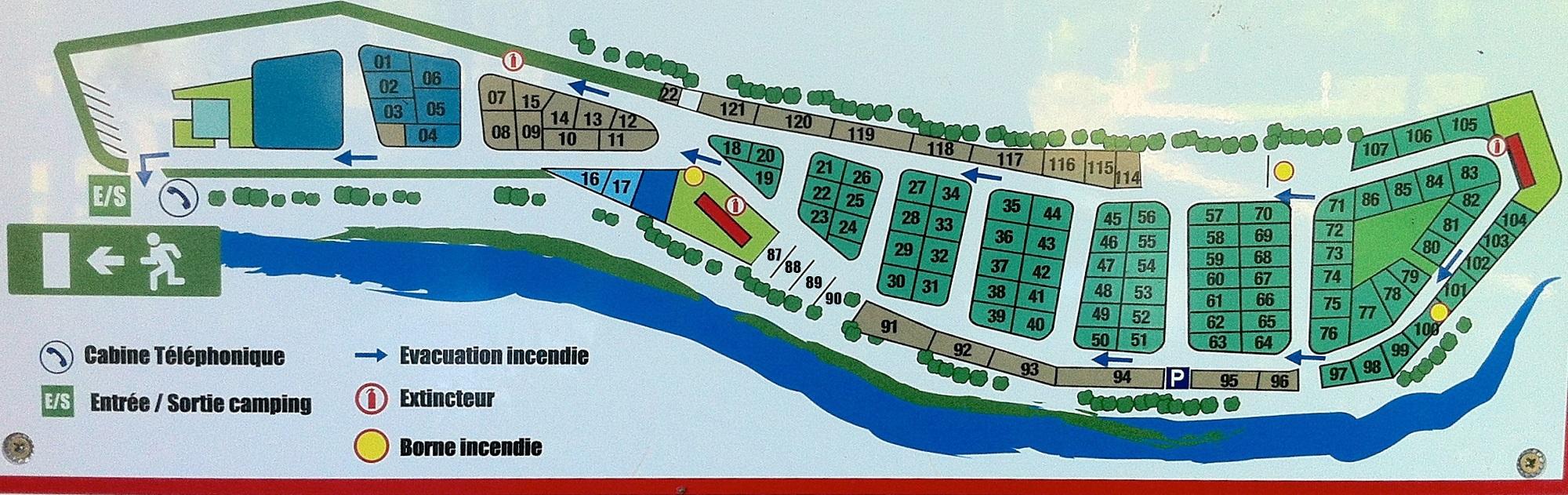 Plan Camping du Lac Kir Dijon
