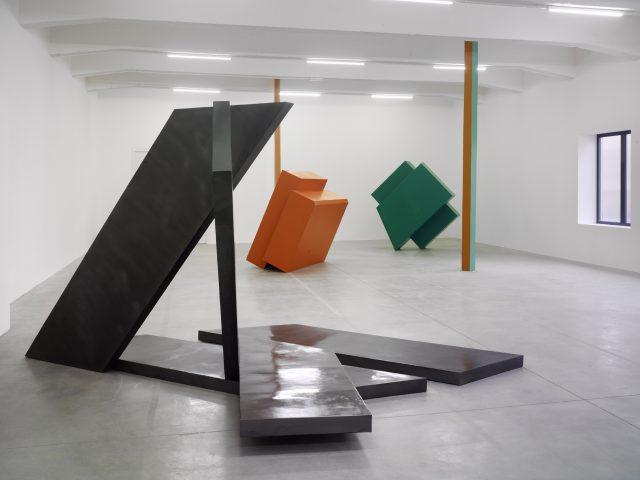 Vue de l'exposition de Philip King, 2013