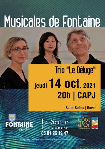 Musicales de Fontaine : Concert du trio » Le Déluge « - 0