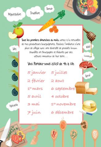 Dates 2020 – Un dimanche en Bourgogne