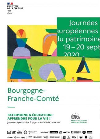 Journées Européennes du Patrimoine 2021 en Bourgogne Franche-Comté