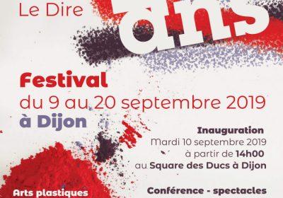 Festival des 20 ans de «L'art pour le dire» à Dijon / Expositions, spectacles, conférence et tables rondes