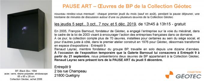 PAUSE ART – Œuvres de BP de la Collection Géotec