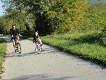 à vélo en famille